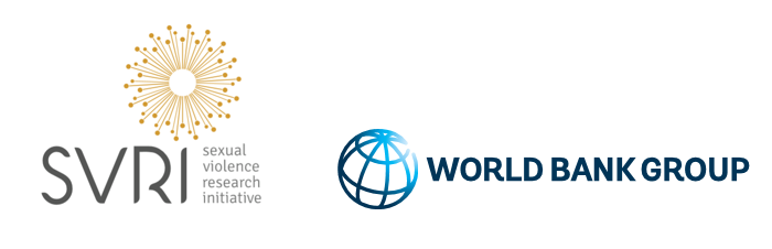 Logo of Sexual Violence Research Initiative and World Bank Group